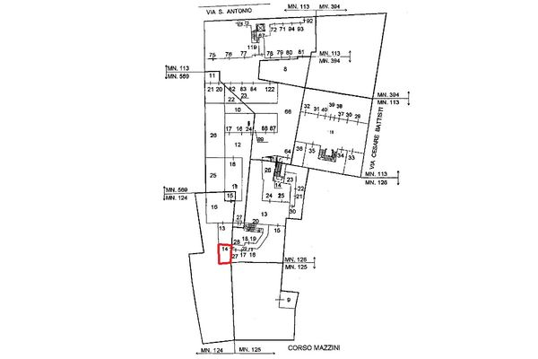 Immagine n0 - Planimetria - Localizzazione PS1 - Asta 5128
