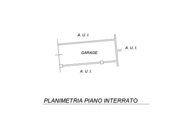 Immagine n0 - Planimetria - Piano interrato - Asta 5506