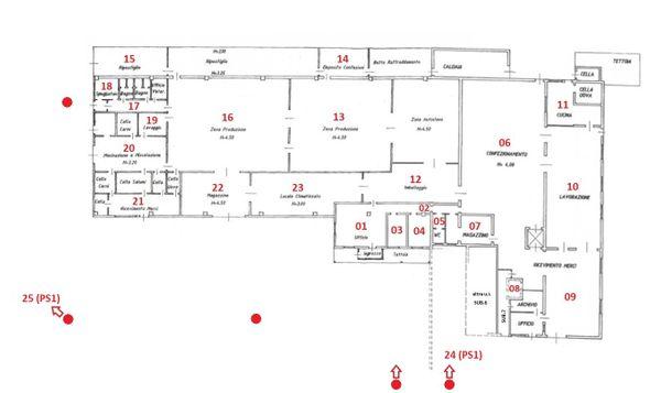 Immagine n1 - Planimetria - Piano terra - Asta 5572