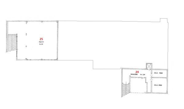 Immagine n0 - Planimetria - Piano seminterrato - Asta 5572