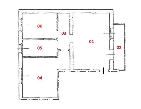 Immagine n1 - Planimetria - Piano secondo - Asta 5638