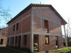 Semi-detached building under construction