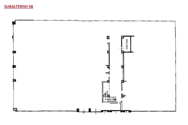 Immagine n0 - Planimetria - Piano secondo sottostrada - Asta 6111