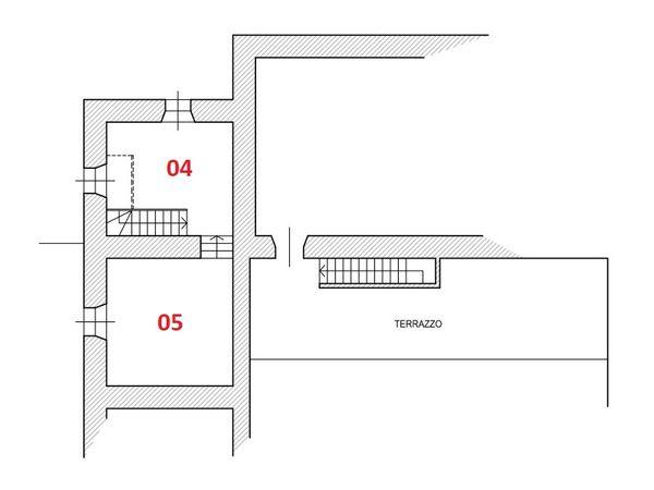 Immagine n2 - Planimetria - Piano primo - Asta 6113