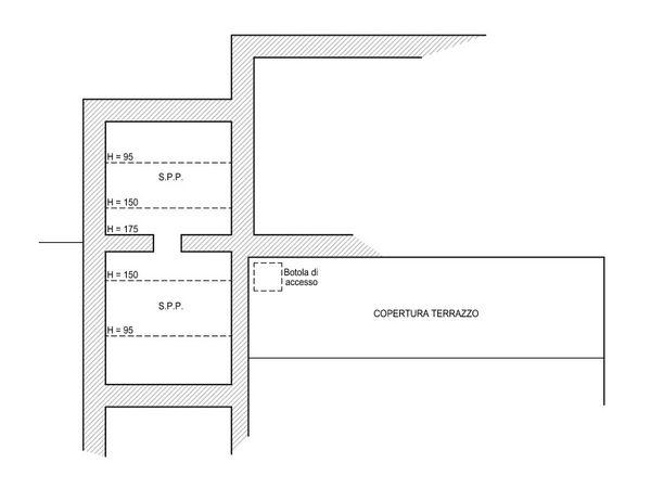 Immagine n3 - Planimetria - Piano sottotetto - Asta 6113
