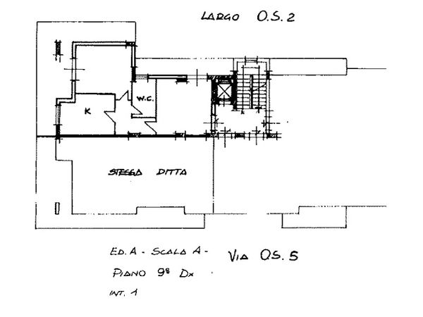 Immagine n1 - Planimetry - Ninth floor - Asta 6129