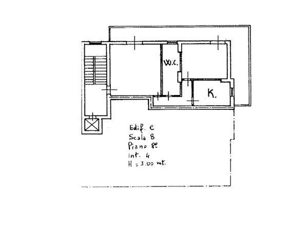Immagine n1 - Planimetry - Eighth floor - Asta 6130