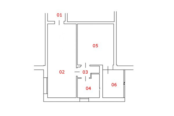 Immagine n1 - Planimetry - First floor apartment - Asta 6161