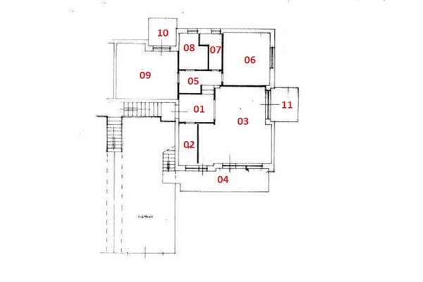 Immagine n0 - Planimetry - First floor - Asta 6336