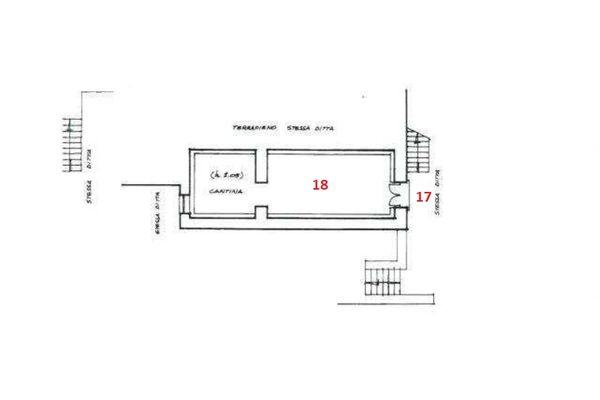 Immagine n0 - Planimetria - Piano interrato - Asta 6338