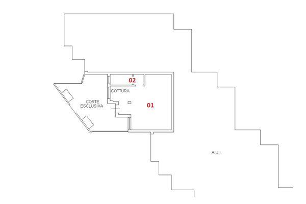 Immagine n1 - Planimetria - Piano terra - Asta 6405