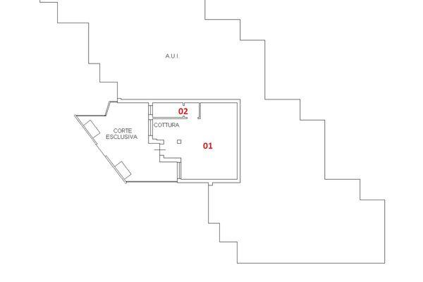 Immagine n1 - Planimetria - Piano terra - Asta 6406