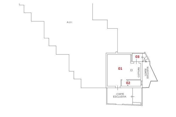 Immagine n1 - Planimetria - Piano terra - Asta 6407