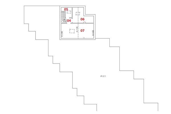 Immagine n1 - Planimetria - Piano secondo - Asta 6410