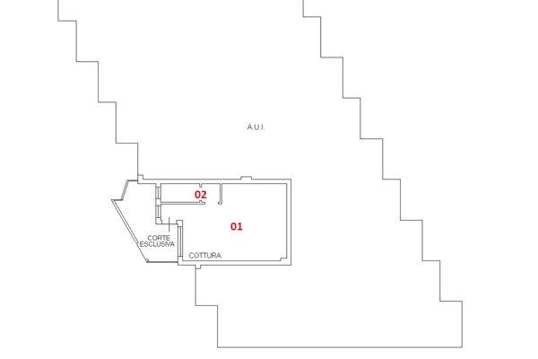 Immagine n1 - Planimetria - Piano terra - Asta 6412