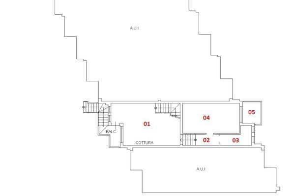 Immagine n1 - Planimetry - First floor - Asta 6422