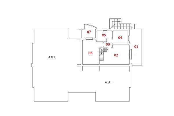 Immagine n2 - Planimetria - Piano primo - Asta 6459