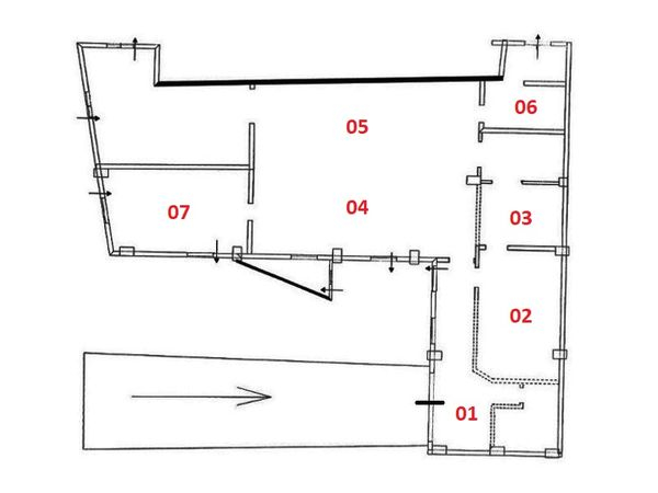 Immagine n1 - Planimetria - Sòtano - Asta 6483