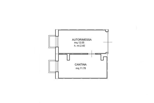 Immagine n0 - Planimetria - Piano primo interrato - Asta 6561