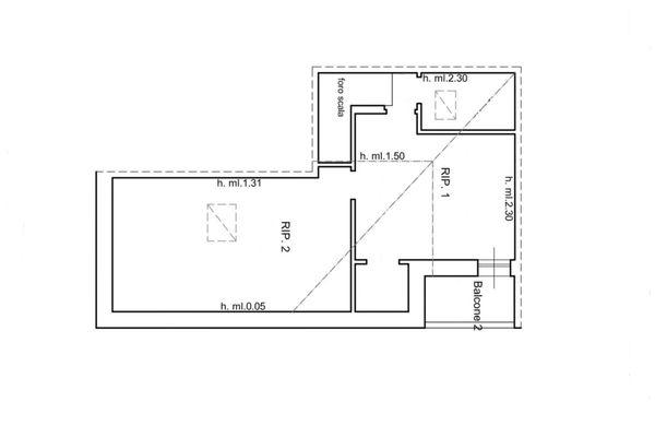 Immagine n2 - Planimetria - Piano sottotetto - Asta 6567