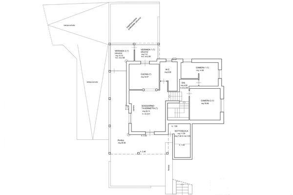 Immagine n2 - Planimetria - Piano terra - Asta 6571