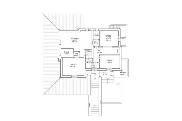 Immagine n3 - Planimetria - Piano primo - Asta 6571