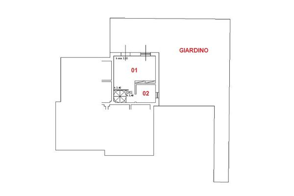 Immagine n1 - Planimetry - Ground floor - Asta 6588