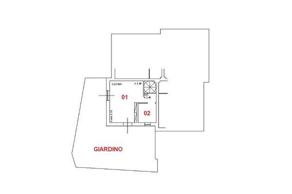 Immagine n1 - Planimetria - Piano terra - Asta 6590