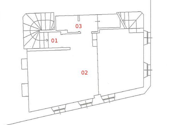 Immagine n2 - Planimetria - Piano secondo - Asta 664