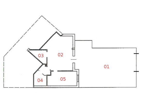 Immagine n4 - Planimetria - Piano seminterrato - Asta 665