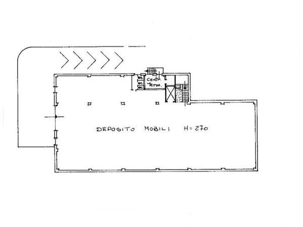 Immagine n1 - Planimetria - Piano primo interrato - Asta 6757