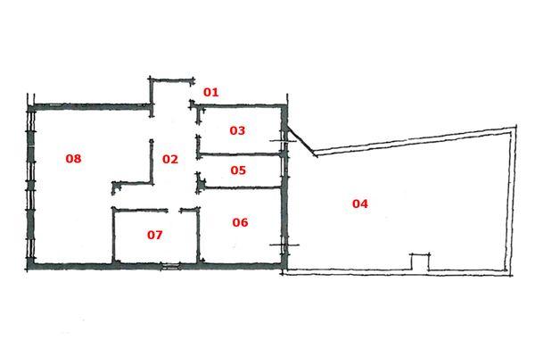 Immagine n0 - Planimetria - Piano secondo (sub 5) - Asta 6794