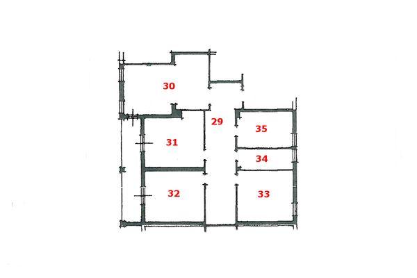 Immagine n0 - Planimetria - Piano secondo (sub 3) - Asta 6794