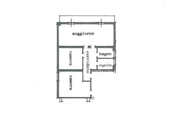 Immagine n6 - Planimetria - Piano primo (sub 2) - Asta 6794