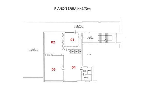 Immagine n0 - Planimetry - Ground floor - Asta 6797