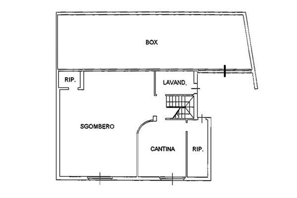 Immagine n3 - Planimetria - Piano interrato - Asta 6807