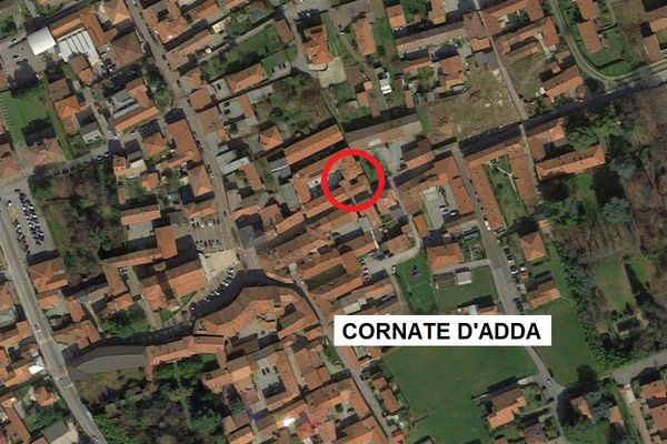 Immagine n0 - Planimetria - Vista aerea - Cornate d'Adda (MB) - Asta 6807