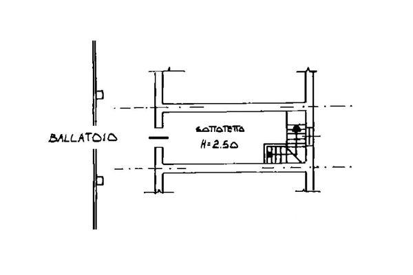 Immagine n2 - Planimetria - Piano primo - Asta 6808