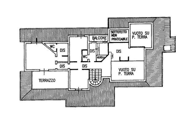 Immagine n2 - Planimetria - Piano primo - Asta 6809