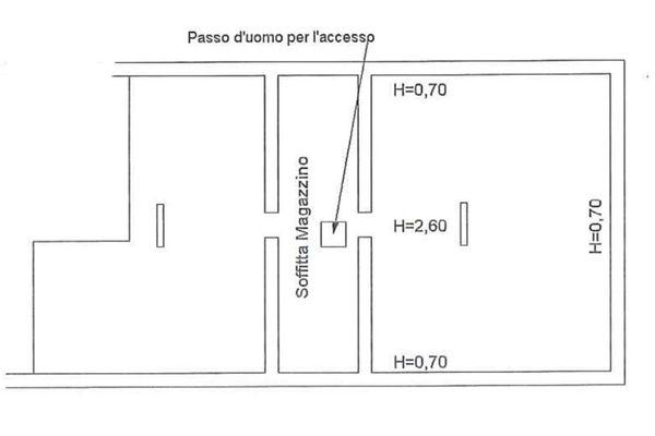 Immagine n0 - Planimetria - Piano secondo (sub 19) - Asta 6861