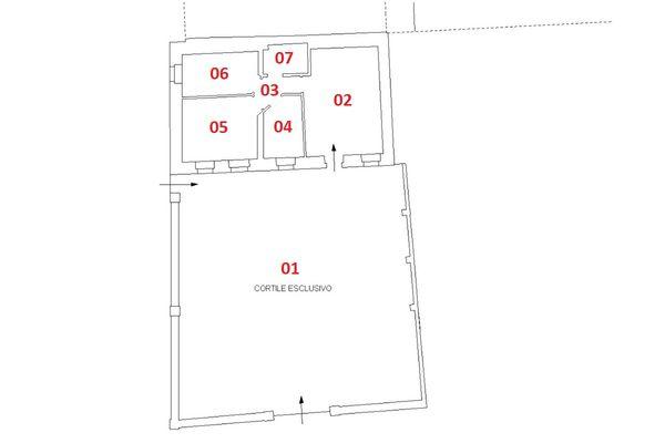 Immagine n2 - Planimetria - Piano terra - Asta 6916