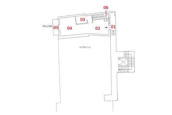 Immagine n1 - Planimetria - Piano primo - Asta 6917