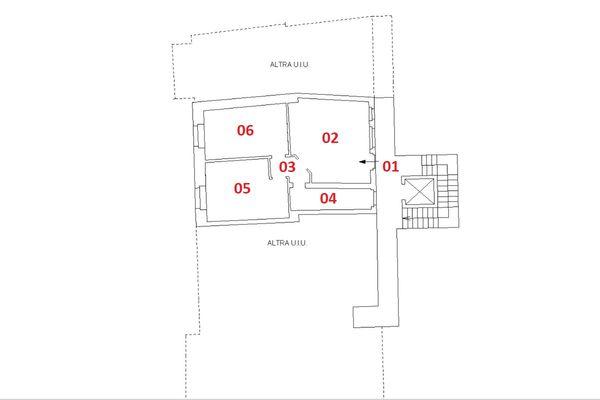 Immagine n2 - Planimetria - Piano primo - Asta 6918