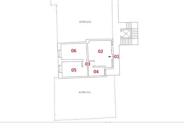 Immagine n2 - Planimetry - First floor - Asta 6919