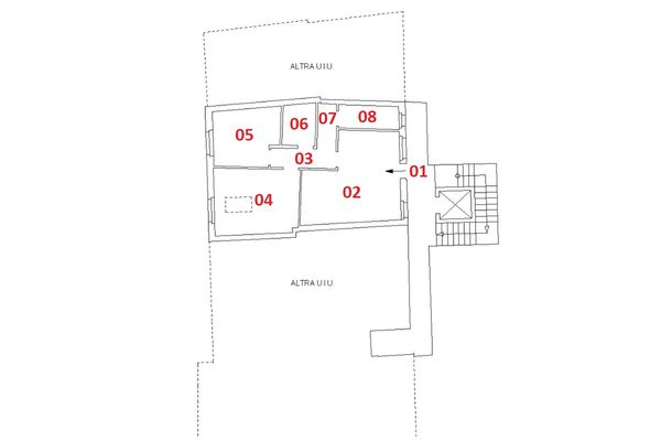 Immagine n2 - Planimetria - Piano secondo - Asta 6920