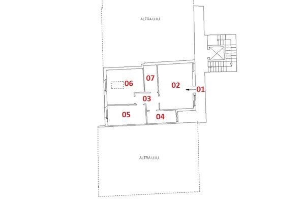 Immagine n2 - Planimetria - Piano secondo - Asta 6921