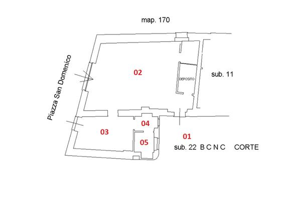 Immagine n1 - Planimetria - Negozio - Asta 6922