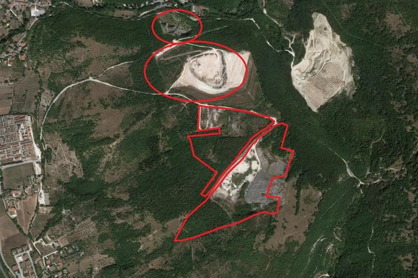Immagine n1 - Planimetria - Vista aerea - Asta 6935
