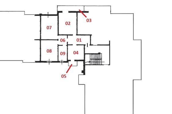 Immagine n1 - Planimetria - Piano terzo - Asta 6953