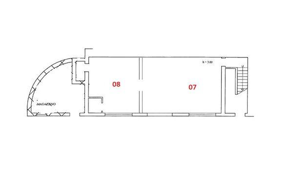 Immagine n0 - Planimetria - Piano secondo seminterrato - Asta 7012
